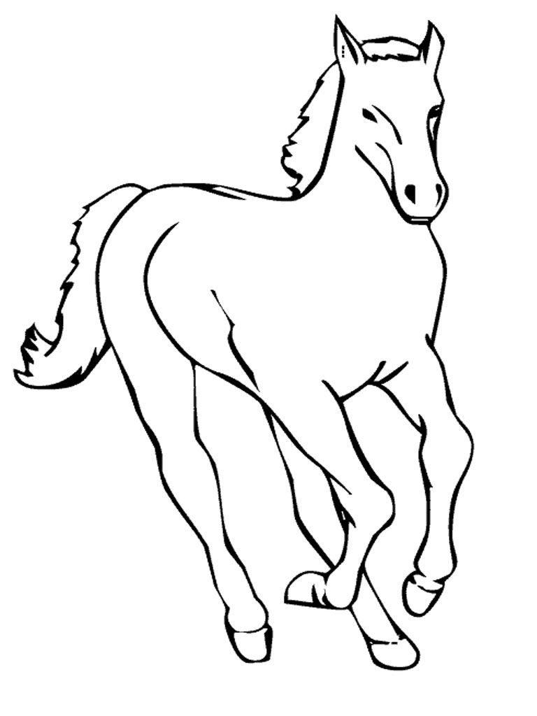 tranh ngựa tô màu cho bé