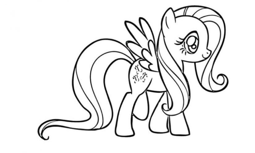 Bé tập tô màu những chú ngựa pony dễ thương