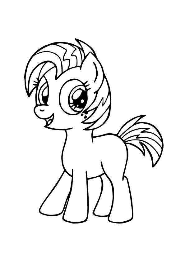 tranh tô màu ngựa pony vui vẻ