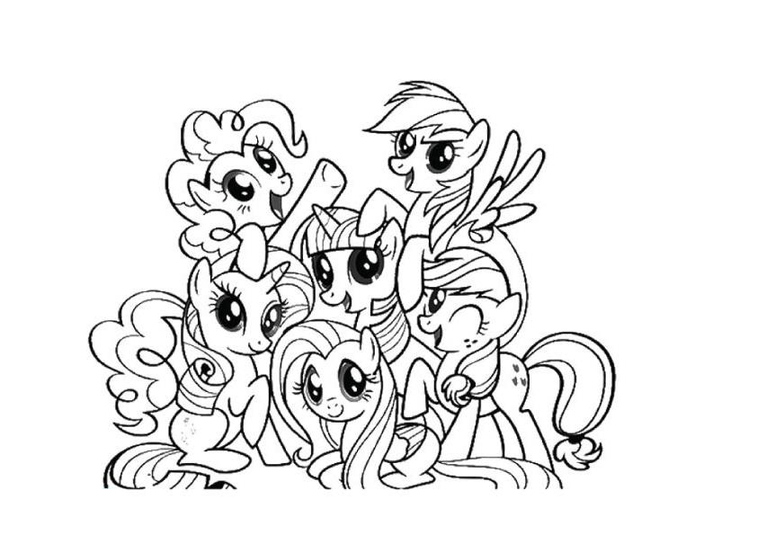Những chú ngựa pony cho bé to màu