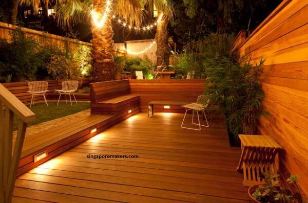 Đèn LED năng lượng chiếu sáng sân vườn