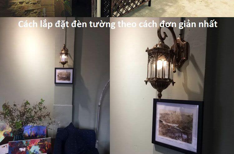 mẫu đèn treo tường